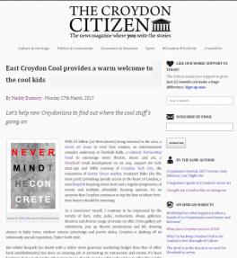 Croydon Citizen Article PHOTO