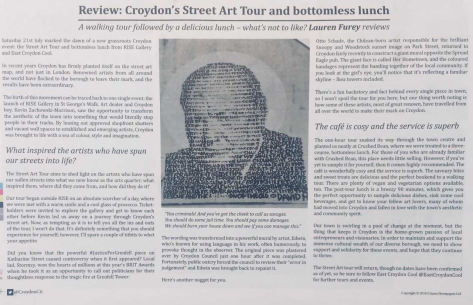 Citizen Street Tour and Lunch article